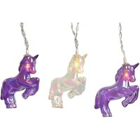 Product photograph showing Led Unicorn String Lights Clear And Purple