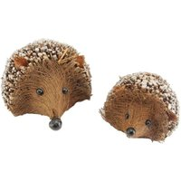 Product photograph showing Twig Hedgehog Ornament - Set Of 2 Set Of 2