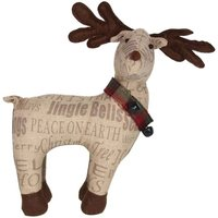 Product photograph showing Sentiment Fabric Reindeer Ornament