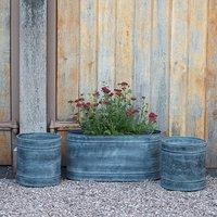 Planter and trough set