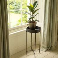 Product photograph showing Plant Tray And Stand - Tall Graphite Patina
