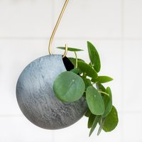 Product photograph showing Sphere Plant Holder Aged Zinc - 11cm