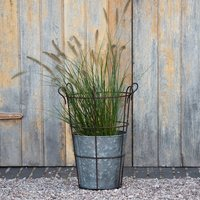 Planter and support basket looped