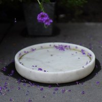 Product photograph showing Marble Bird Bath