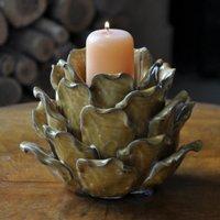 Artichoke candle holder sienna
