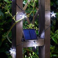 Product photograph showing 50 Solar Super Bright Stars String Lights