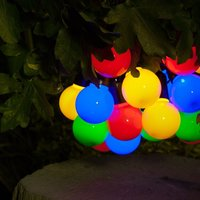 Product photograph showing Solar Multi Colour Festoon String Lights