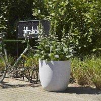 Cadix terrazzo egg planter grey