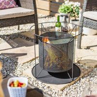 Product photograph showing Kora Steel Round Mesh Suspended Firepit 40x44cm