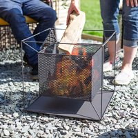 Product photograph showing Taku Steel Square Mesh Suspended Firepit 40x44x44cm