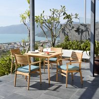 Product photograph showing Lifestyle Garden Eve Teak 4 Seat Dining Set