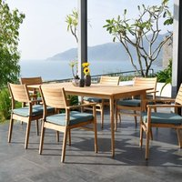 Product photograph showing Lifestyle Garden Eve Teak 6 Seat Dining Set