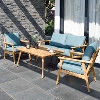 Product photograph showing Lifestyle Garden Eve Teak Lounge Set