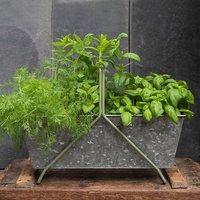 Portable planting trough - crocus green frame
