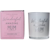Product photograph showing Mum Mini Scented Boxed Candle Pot