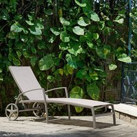 Product photograph showing Lifestyle Garden Morella Wheeled Lounger