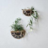 Api wall hung planter half circle