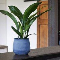 Kew handthrown planter azurite