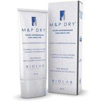 Loção Antiperspirante para Mãos e Pés Biolab M e P Dry com 60ml 60g