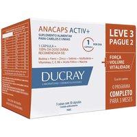 Suplemento Alimentar para Cabelos e Unhas Anacaps Activ+ com 90 cápsulas Ducray 90 Cápsulas