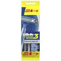 Aparelho de Barbear Descartável Gillette Prestobarba Ultragrip 3 4 Unidades