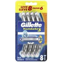 Aparelho de Barbear Descartável Gillette Prestobarba 3 8 Unidades 8 Unidades