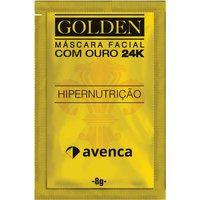 Máscara Facial Removedora de Cravos Avenca Golden 24K com 1 sachê de 8g 8g