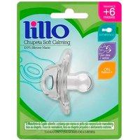 Chupeta de Silicone Lillo Soft Calming Tamanho 2 Transparente 1 Unidade