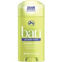 Desodorante Antitranspirante Ban Powder Fresh Sólido Invisível com 73g 73g