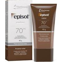 Protetor Solar Facial Episol Com Cor Pele Morena Mais FPS 70 com 40g 40g