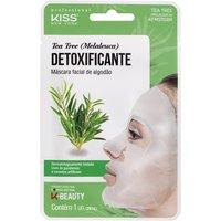 Máscara Facial de Algodão Kiss NY Tea Tree Detoxificante 1 Unidade