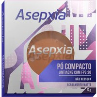 Pó Compacto Asepxia Antiacne Cor Marrom FPS20 10g