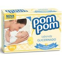 Sabonete Infantil em Barra Pom Pom Glicerinado com 80g 80g