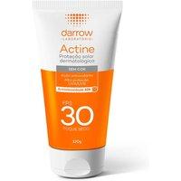 Protetor Solar Facial Darrow Actine Antioleosidade Sem Cor FPS 30 com 120g 120g