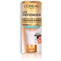Protetor Solar Facial Antioleosidade L'Oréal UV Defender FPS 60 com 40g 40g