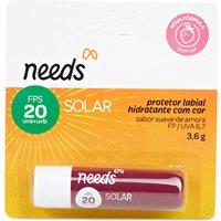 Protetor Solar Labial Hidratante Needs com Cor Sabor Amora FPS20 3,6g