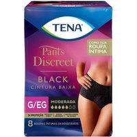 Roupa Íntima Tena Pants Discreet Black Tamanho G/EG com 8 Unidades 8 Unidades