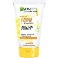 Sabonete Líquido Facial Garnier SkinActive Uniform e Matte Vitamina C Antioleosidade com 120g 120g