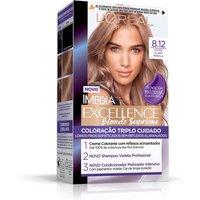Tintura Permanente Imédia Excellence Blonde Supreme 8.12 Louro Claro Pérola com 1 Unidade 1 Unidade