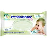 Lenço Umedecido Personalidade Baby com 100 unidades 100 Unidades