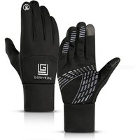 Waterproof Fleece Men Ski Gloves Wind-proof Thermal Touch Screen Outdoor Full Finger Cycling Snowboard Gloves