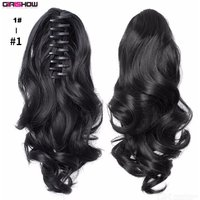 40cm Long Curly Clip-in Wig, Synthetic Wavy Hair For Women