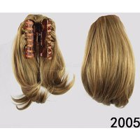 Straight Synthetic Hair Women Claw On Ponytail Clip In Hair Extensions Wig High Temperature Fiber Hairpiece