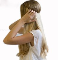 Long Straight Synthetic Clip In Hair Extensions Wig Hairpiece High Temperature Fiber Straight Hair