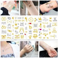 Flash Bride Tribe Temporary Tattoo Sticker Bachelor Party Bridesmaid Wedding Party Body Art Glitter Tattoo Decals