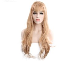 European And American Fashion Synthetic Wigs Long Curly Hair With Bangs