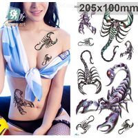 Temporary Tattoos Stickers Waterproof 3D Scorpion Fashion Fake Body Art
