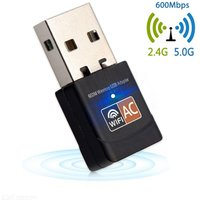 ESAMACT Mini 600Mbp USB WiFi Dongle Adapter, Dual Band USB Wireless Network lan Card for PC Desktop Laptop Tablet 802.11a/g/n/ac