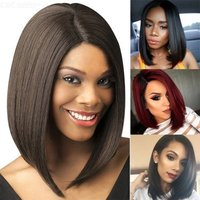 High Temperature Fiber Synthetic Hair Straight Bob Wigs For Women