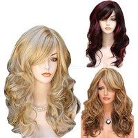 60CM Long Curly Wig Stylish Wavy High Temperature Fiber Synthetic Hair For Women